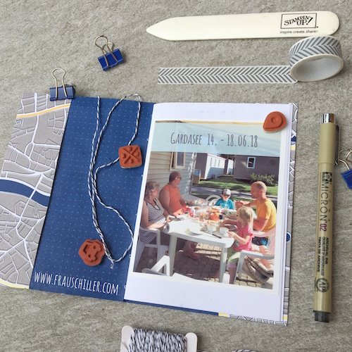 Blog, Travelers Notebook, DIY, Stampin' Up!, Journal, Urlaub, Erinnerung, memory keeping, Ferien, Familie, Papier, stempeln